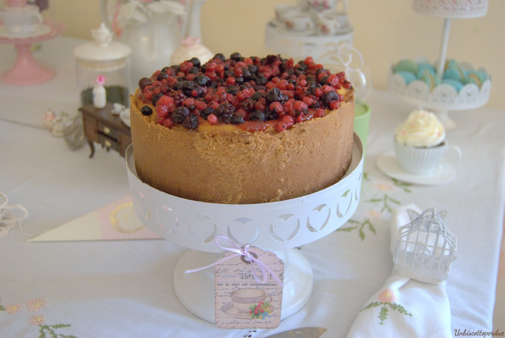 Cheesecake ai frutti di bosco gluten free