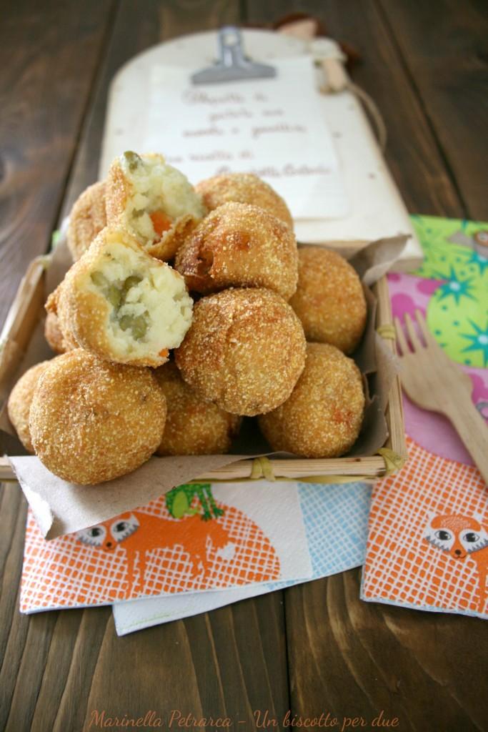 Crocchette di patate,carote e piselli