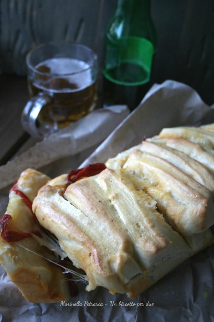 Pull apart peperoni e mozzarella
