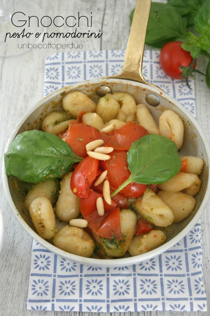 Gnocchi pesto e pomodorini watermark